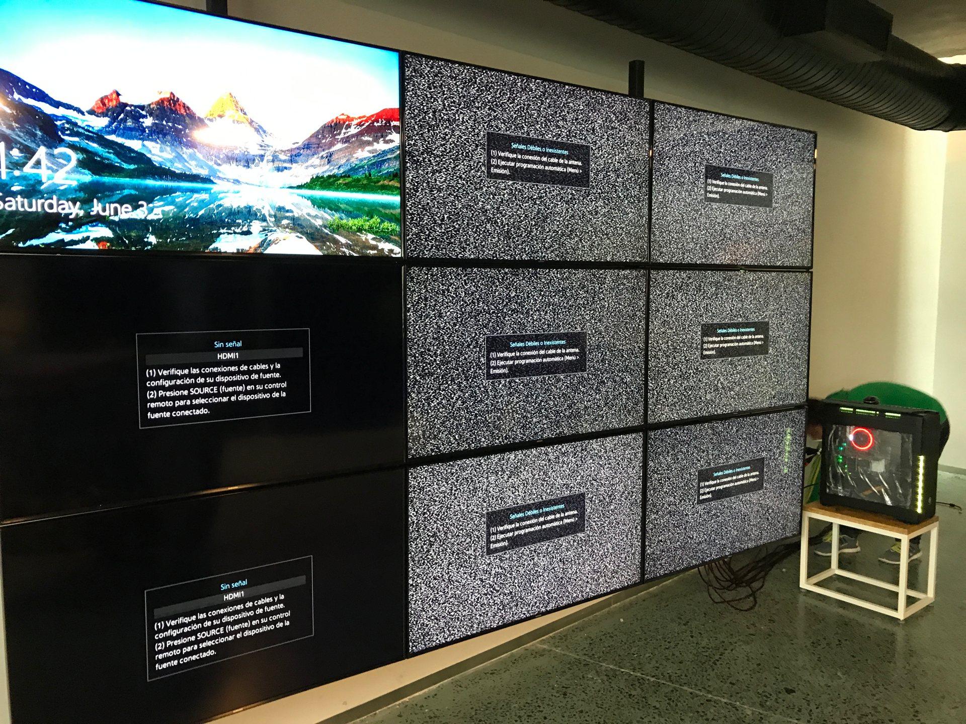 Videowall montaje